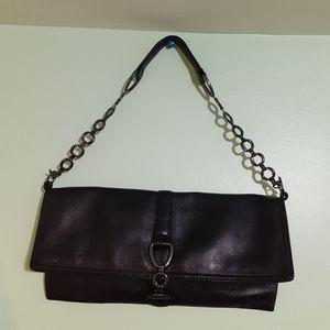Genuine 💯%Sheep Leather Black Clutch Purse boho